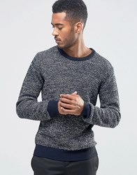 Another Influence Multi Yarn Jumper Navy