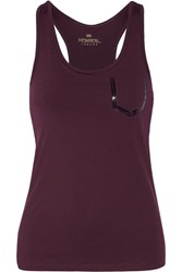 Monreal London Essential Stretch Jersey Tank Burgundy