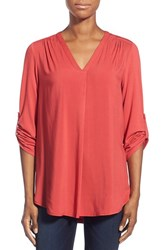 Women's Pleione Mixed Media V Neck Tunic Nordstrom Exclusive