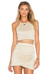 Lovers Friends X Revolve X Alexis Ren Star Goddess Crop Top Metallic Silver