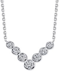 Sirena Energy Diamond Frontal Necklace 1 4 Ct. T.W. In 14K White And Yellow Gold White Gold