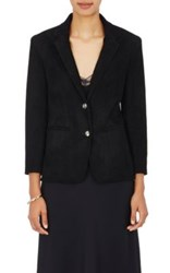 The Row Women's Nolbon Bonded Suede Jacket Black