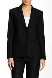 Helmut Lang Lapel Seam Wool Blend Blazer Black