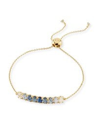 Tai Ombre Crystal Pull Tie Bracelet Blue