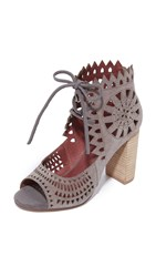 Jeffrey Campbell Cordia Peep Toe Booties Taupe