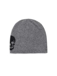 360Cashmere Scout Skull Cashmere Beanie Charcoal Black