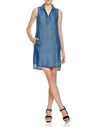 Prive Chambray Trapeze Dress Medium Indigo