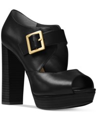 Michael Kors Eleni Mary Jane Platform Pumps Women's Shoes Black