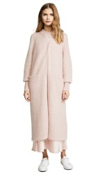 Temperley London Dawn Knit Cocoon Coat Pale Pink