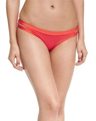 Vitamin A Neutra Perforated Hipster Swim Bottoms Red
