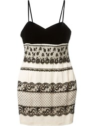Christian Dior Vintage Lace Detail Slip Dress Black