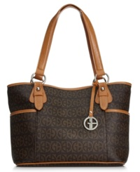 Giani Bernini Block Signature Tote Brown