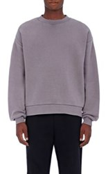 Alexander Wang T By Men's French Terry Oversized Sweatshirt Grey