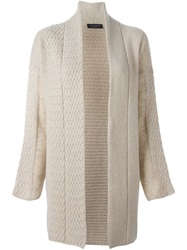 Piazza Sempione Panelled Cardi Coat Nude And Neutrals