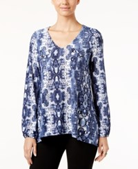 Inc International Concepts Snakeskin Print Blouse Only At Macy's Diamond Python