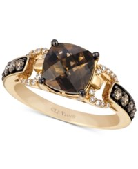 Le Vian Chocolatier Smoky Quartz 1 3 4 Ct. T.W. And Diamond 1 3 Ct. T.W. Ring In 14K Gold Yellow Gold