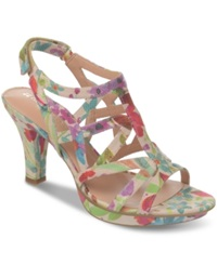 Naturalizer Danya Evening Sandals Women's Shoes Printed Floral Iguana