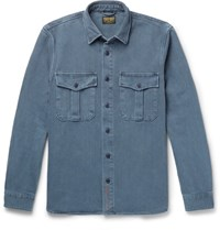 Jean Shop Barry Cotton Twill Overshirt Storm Blue