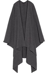 The Row Cappeto Ribbed Cashmere Wrap Anthracite