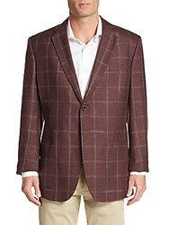 Giorgio Armani Windowpane Plaid Blazer Pinstripe