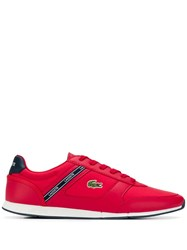 Lacoste Logo Patch Sneakers Red
