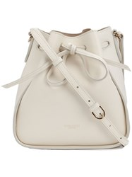 Nina Ricci String Tie Bucket Cross Body Bag White