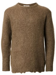Monkey Time Ribbed Sweater Brown
