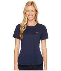 Columbia Pfg Zero Ii Short Sleeve Shirt Collegiate Navy Women's Short Sleeve Pullover