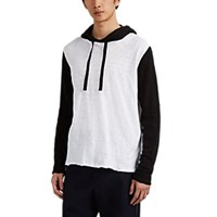 Atm Anthony Thomas Melillo Colorblocked Cotton Hoodie Wht.Andblk. Wht.Andblk.
