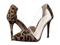 Raye Terry Dark Tan Leopard High Heels Animal Print