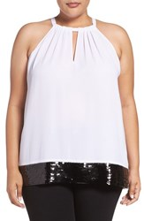 Michael Michael Kors Plus Size Women's Sequin Trim Top