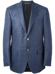 Canali Plaid Blazer Grey