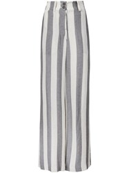 Lost And Found Ria Dunn Striped Straight Trousers Nude And Neutrals