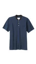 Patrik Ervell Rib Collar Polo Dark Navy