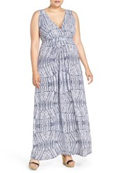 Plus Size Women's Tart 'Chloe' Print Empire Waist Jersey Maxi Dress