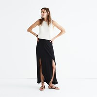 Madewell Silk Two Slit Maxi Skirt True Black