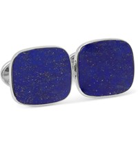 Trianon 18 Karat White Gold Lapis Cufflinks Blue