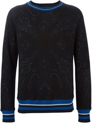 Etro Floral Paisley Print Sweater Black