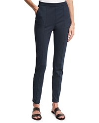 St. John Denim Ponte Cropped Leggings Navy