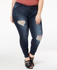 Celebrity Pink Plus Size Distressed Skinny Ankle Jeans Precedent