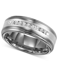 Triton Men's Diamond Wedding Band In Tungsten Carbide 1 4 Ct. T.W.