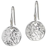 Dower And Hall Sterling Silver Disc Drop Earrings