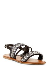 Nature Breeze Dolly Braided Ankle Strap Sandal Black