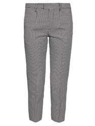 Undercover Hound's Tooth Print Tailored Trousers Black White