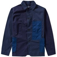 Post Overalls Patchwork Engineers Jacket Blue