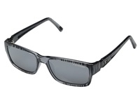 Tifosi Optics Hagen Silver Streak Athletic Performance Sport Sunglasses Gray