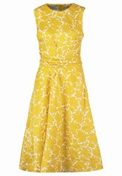 Hobbs Twitchill Summer Dress Yellow White