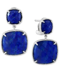 Effy Collection Effy Lapis Lazuli Drop Earrings 19 Ct. T.W. In Sterling Silver