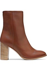 Iris And Ink Woman Kiersten Leather Ankle Boots Tan