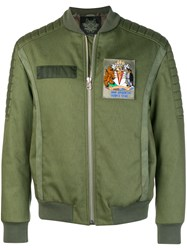 Mr And Mrs Italy Fur Lined Bomber Jacket Green